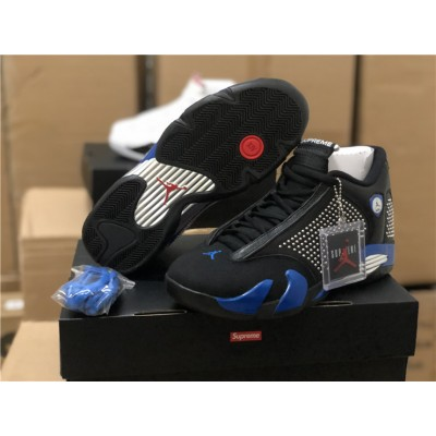 Supreme x Air Jordan 14 Black Shoes