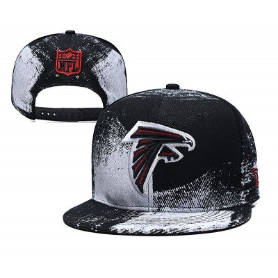 NFL Falcons Team Logo Black Adjustable Hat SG