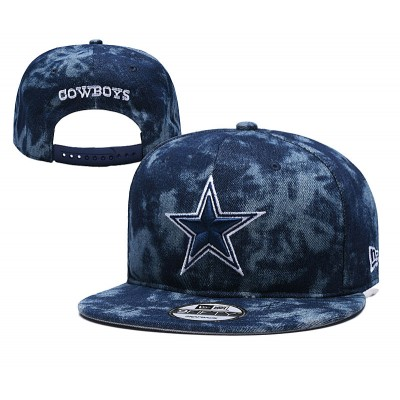 NFL Cowboys Team Logo Smoke Gray Adjustable Hat YD