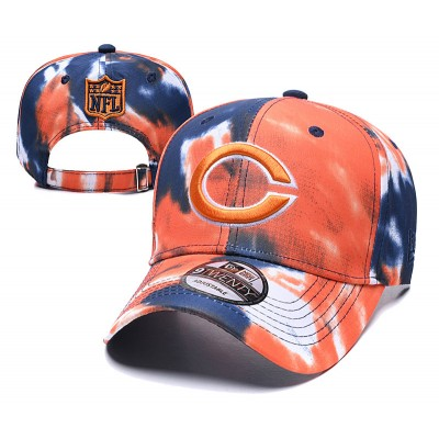 NFL Bears Team Logo Orange Peaked Adjustable Fashion Hat YD