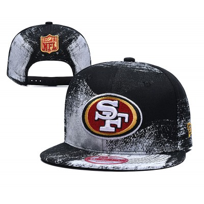 NFL 49ers Team Logo Black Adjustable Hat SG