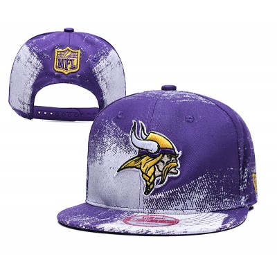 NFL Vikings Team Logo Purple Adjustable Hat SG