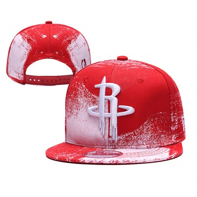 NBA Rockets Team Logo Red Adjustable Hat SG