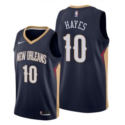 NBA Pelicans 10 Jaxson Hayes Navy 2019 Draft Nike Men Jersey