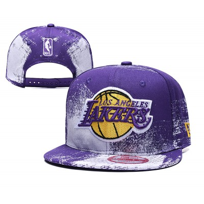 NBA Lakers Team Logo Purple Adjustable Hat YD