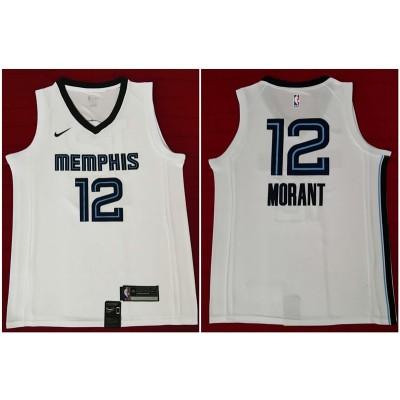 NBA Grizzlies 12 Ja Morant White 2019 Draft Nike Men Jersey