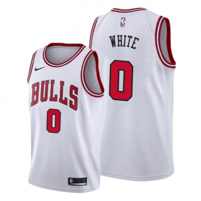NBA Bulls 0 Coby White White 2019 Draft Nike Men Jersey