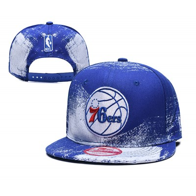 NBA 76ers Team Logo Blue Adjustable Hat SG