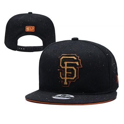 MLB San Francisco Giants Team Gold Logo Black Adjustable Hat YD