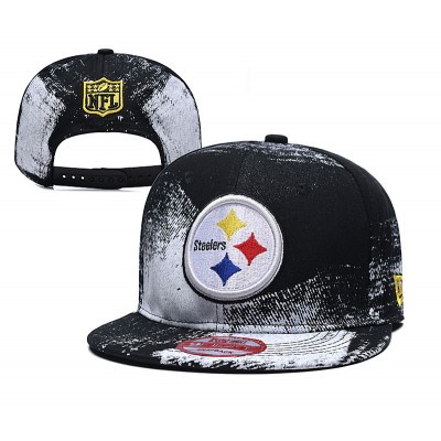 NFL Steelers Team Logo Black Adjustable Hat SG