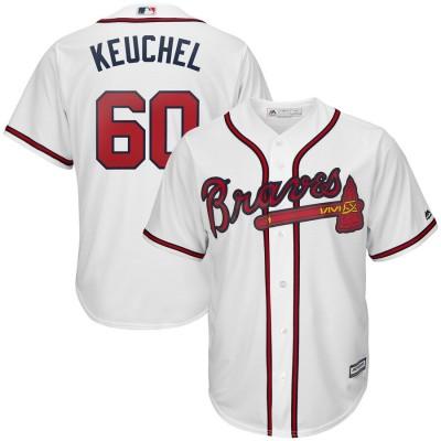 MLB Braves 60 Dallas Keuchel White Cool Base Men Jersey