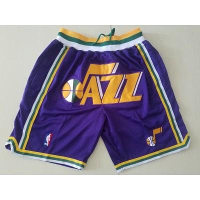 NBA Jazz Purple Just Don Mesh Shorts