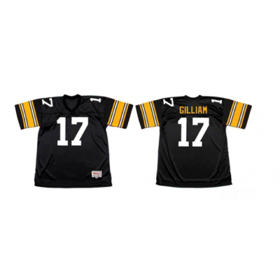 Mitchell and Ness NFL Steelers 17 Joe Gilliam Black Throwback Jersey