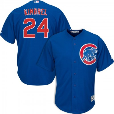 MLB Cubs 24 Craig Kimbrel Royal Cool Base Men Jersey