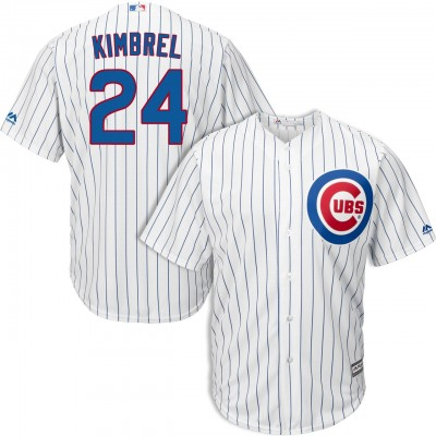 MLB Cubs 24 Craig Kimbrel White Cool Base Men Jersey