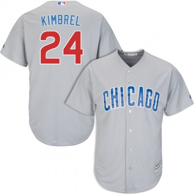 MLB Cubs 24 Craig Kimbrel Gray Cool Base Men Jersey