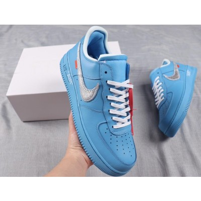 """Nike Air Force 1 '07 Virgil """"Off-White / MCA"""" Blue Shoes"""