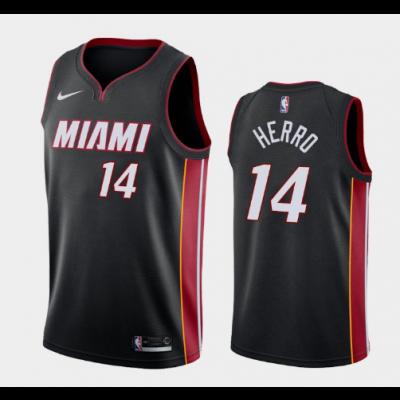 NBA Heat 14 Tyler Herro Black Nike Men Jersey