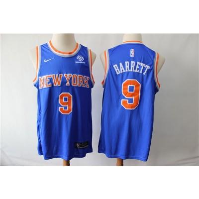 NBA Knicks 9 RJ Barrett Blue 2019 Draft Nike Men Jersey