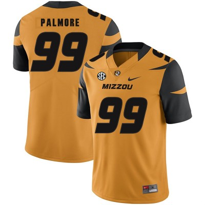 NCAA Missouri Tigers 99 Walter Palmore Gold Nike College Football Men Jersey