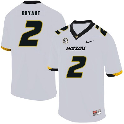 NCAA Missouri Tigers 2 Kelly Bryant White Nike College Football Men Jersey