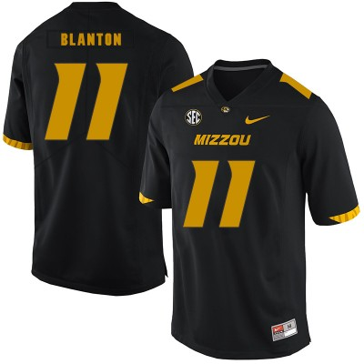 NCAA Missouri Tigers 11 Kendall Blanton Black Nike College Football Men Jersey