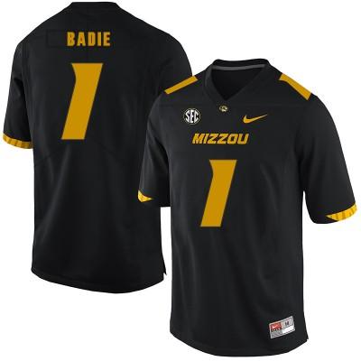 NCAA Missouri Tigers 1 Tyler Badie Black Nike College Football Men Jersey