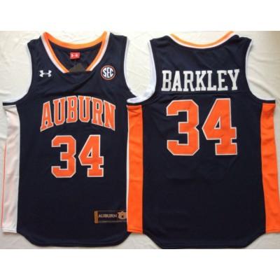 NCAA Auburn Tigers 34 Charles Barkley Navy College Basketball Men Jersey