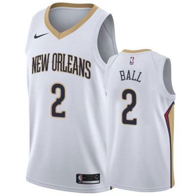 NBA Pelicans 2 Lonzo Ball White Nike Men Jersey
