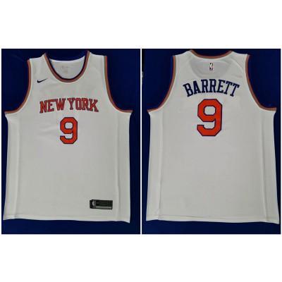 NBA Knicks 9 R.J. Barrett White Nike Men Jersey