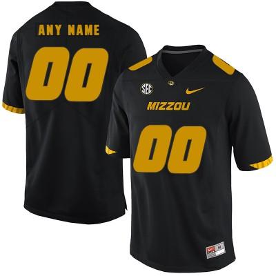 NCAA Missouri Tigers Customized Black Nike College Football Men Jersey