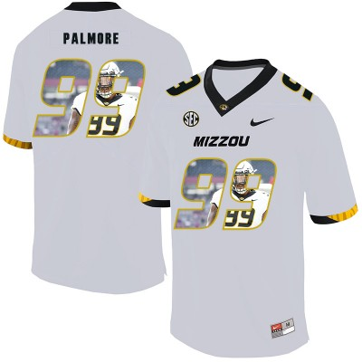 NCAA Missouri Tigers 99 Walter Palmore White Nike Fashion College Football Men Jersey