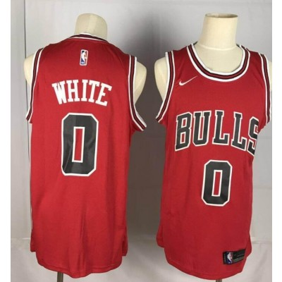 NBA Bulls 0 Coby White Red 2019 Draft Nike Men Jersey