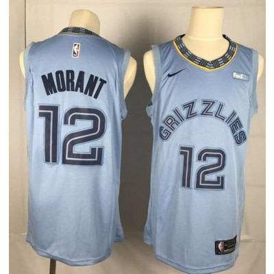 NBA Grizzlies 12 Ja Morant Blue 2019 Draft Nike Men Jersey