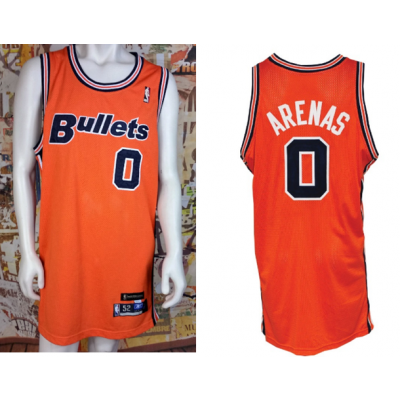 NBA Wizards 0 Gilbert Arenas Bullets Throwback Jersey