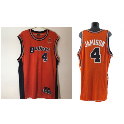 NBA Wizards 4 Antawn Jamison Bullets Throwback Jersey