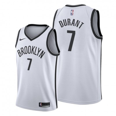 NBA Brooklyn Nets 7 Kevin Durant White Nike Men Jersey