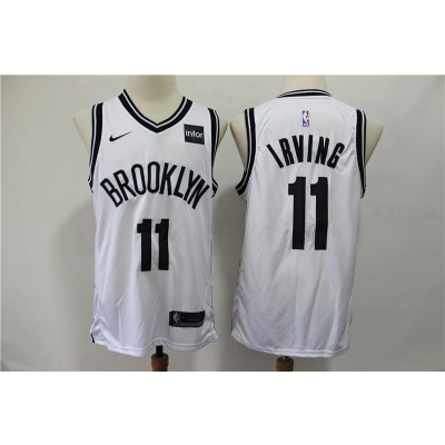 NBA Brooklyn Nets 11 Kyrie Irving White Nike Men Jersey