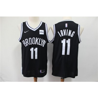 NBA Brooklyn Nets 11 Kyrie Irving Black Nike Men Jersey