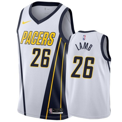 NBA Pacers 26 Jeremy Lamb White Earned Edition Nike Men Jersey