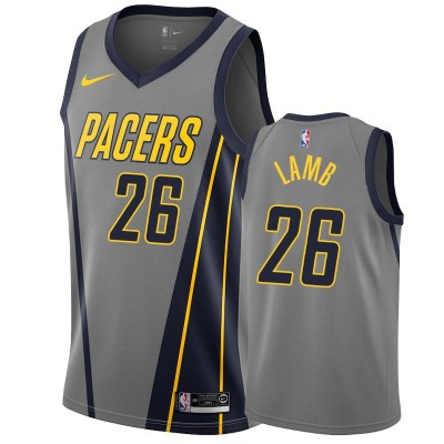 NBA Pacers 26 Jeremy Lamb Grey City Edition Nike Men Jersey