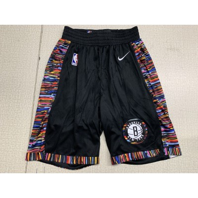 NBA Nets Black City Edition Nike Swingman Shorts