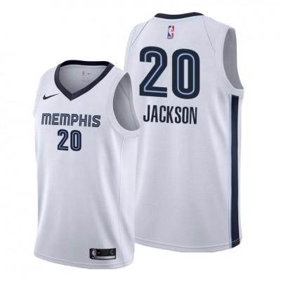 NBA Memphis Grizzlies 20 Josh Jackson White Nike Men Jersey