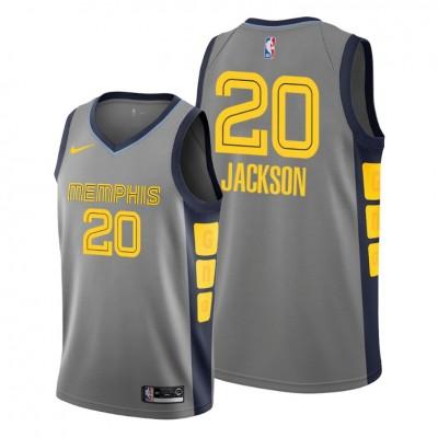 NBA Memphis Grizzlies 20 Josh Jackson Grey City Edition Nike Men Jersey
