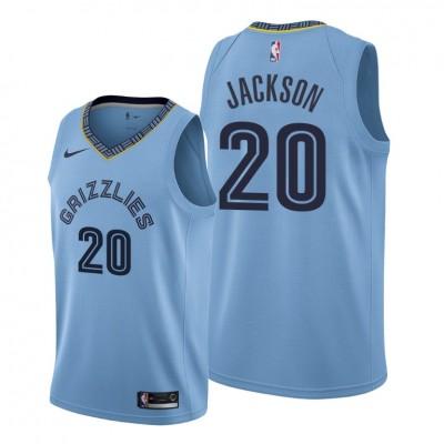NBA Memphis Grizzlies 20 Josh Jackson Blue Nike Men Jersey