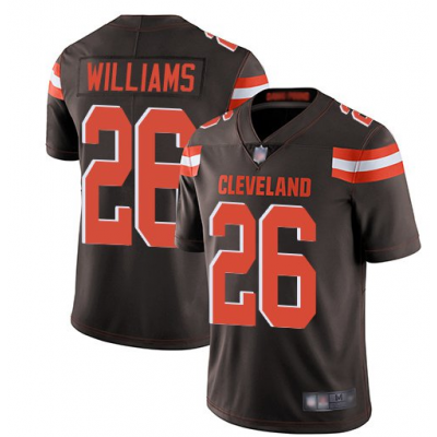 Nike Browns 26 Greedy Williams Brown Vapor Untouchable Limited Men Jersey