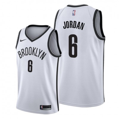 NBA Brooklyn Nets 6 DeAndre Jordan White Nike Men Jersey
