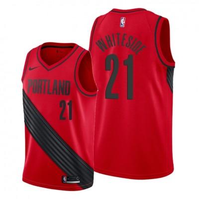 NBA Blazers 21 Hassan Whiteside Red Nike Men Jersey
