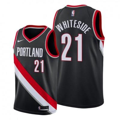 NBA Blazers 21 Hassan Whiteside Black Nike Men Jersey
