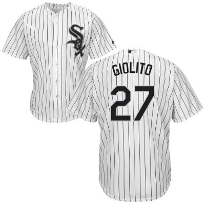 MLB White Sox 27 Lucas Giolito White Cool Base Men Jersey